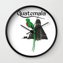 Guatemala Quetzal Chapin Guate Antigua Peten Tikal Maya Puchica Gift Retro Wall Clock