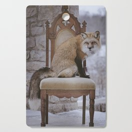 Fox on a Throne Cutting Board