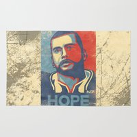 mass effect Area & Throw Rugs featuring Mass Effect : HOPE by GIOdesign