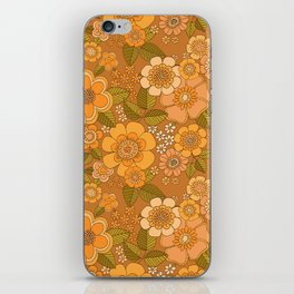 Flower power soft Apricot iPhone Skin