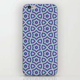 Summer fun Blue pink lime Colorful stars pattern iPhone Skin