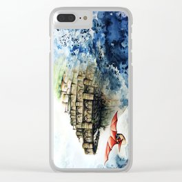 """The castle in the sky"" Clear iPhone Case"