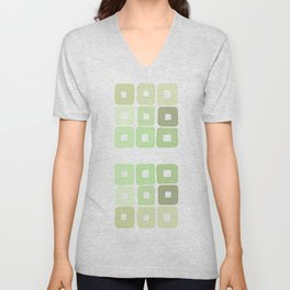 Squared Mint Green & Co Unisex V-Neck