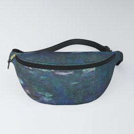 Claude Monet  -  The Water Lilies  Green Reflections Fanny Pack