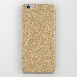 Melange - White and Golden Brown iPhone Skin