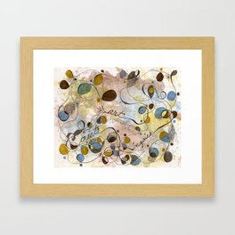 Flourish: Create, Art, Inpspire Framed Art Print