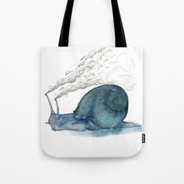 Escargot fumant Tote Bag
