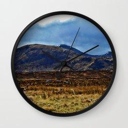 scottish Deer Wall Clock