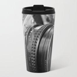 Vintage Minolta Camera 2 B&W Travel Mug