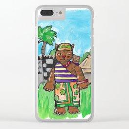 African Cat Clear iPhone Case