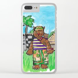 African Cat Clear iPhone Case