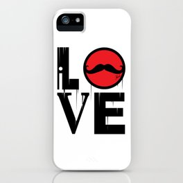 i LOVE mustaches iPhone Case