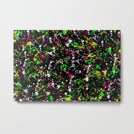 paint drop design - abstract spray paint drops 3 Metal Print