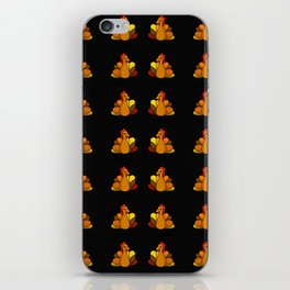 Turk-Tacular Thanksgiving Turkey (Black Background) | Veronica Nagorny  iPhone Skin