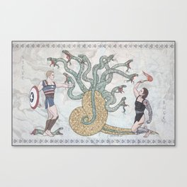 Steve, Bucky and the Hydra Canvas Print
