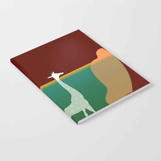 Giraffe Aquatic Scene Notebook