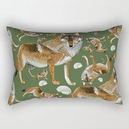 Totem Carpathian wolf Rectangular Pillow