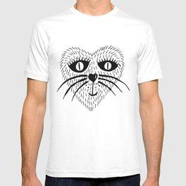 Kitty Love - Heart cat T-shirt