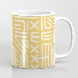 Mudcloth in yellow ochre Coffee Mug