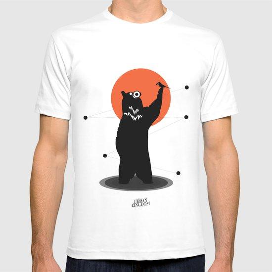Big Bear and the Bird- Wearing Gas mask T-shirt
