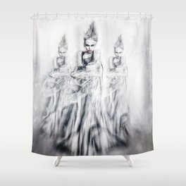 Yuki-Onna Shower Curtain