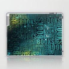 Books Type - Green Galaxy Laptop & iPad Skin