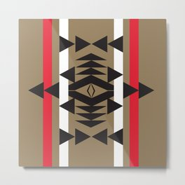 American Native Pattern No. 13 Metal Print