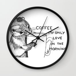 Hug the mug Wall Clock