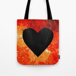 Red Hot Heart Tote Bag