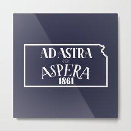 Ad Astra per Aspera Metal Print