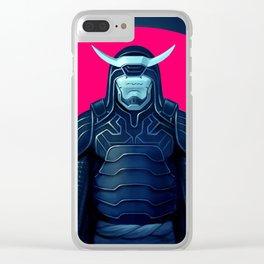 Cyborg Samurai Clear iPhone Case