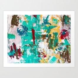 Aqua Bella by Noora Elkoussy Art Print