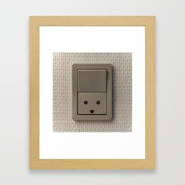 Smiling Power Outlet Framed Art Print