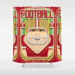 American Football Red and Gold - Enzone Puntfumbler - Josh version Shower Curtain