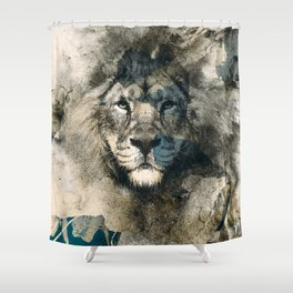 LION CAMOUFLAGE Shower Curtain