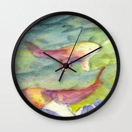 Small Koi Pond 22 Wall Clock