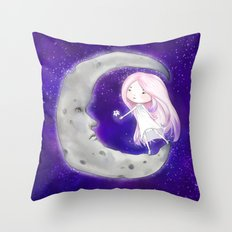 Moon Child Throw Pillow