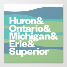 Great Lakes Ampersand Canvas Print