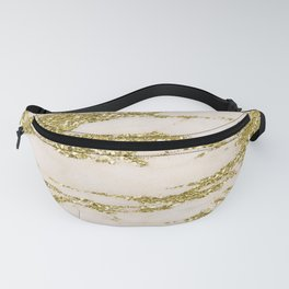Marble - Gold Marble Glittery Light Pink and Yellow Gold Fanny Pack