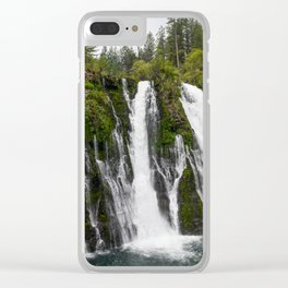 The Plunge (McArthur-Burney Falls) Clear iPhone Case