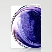 aelwen Stationery Cards featuring Aubergine by Rose Etiennette