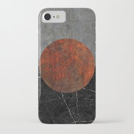 Abstract - Marble, Concrete, and Rusted Iron II iPhone Case