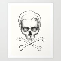house md Art Prints featuring Everybody Dies - House MD Skull Crossbones by Olechka