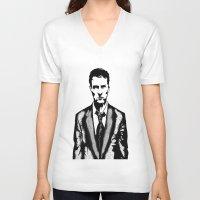 tyler durden V-neck T-shirts featuring Tyler Durden by Shahbab