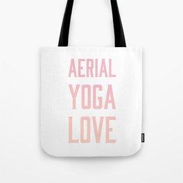 aerial yoga love // pink & orange Tote Bag