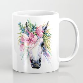 Watercolor Floral Unicorn Coffee Mug