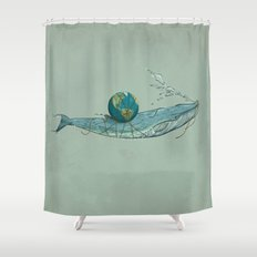 Save the Planet II Shower Curtain