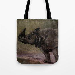 Vintage Rhinoceros Painting (1909) Tote Bag