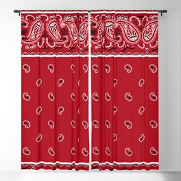 Classic Red Bandana Blackout Curtain