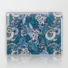Turquoise Boho Floral Pattern Laptop & iPad Skin
